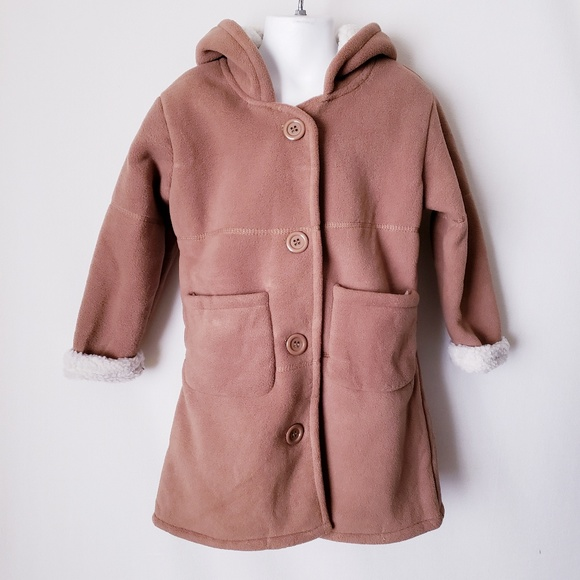 ce2625c36 MJC Collection Jackets & Coats | Little Girls Tan Sherpa Peacoat ...